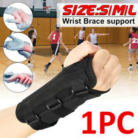 Aluminum Wrist Brace Support Splint Sprain Carpal Tunnel Syndrome Hand Injuries