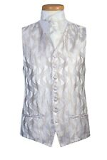 """waistcoat IVORY GOLD SWIRL CHEST SIZE 42""""  FROM ONLY £2"""