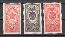 Russia 1952 Sc.1651-3 Zag 1610-12 Medals of the USSR MLHOG CV $5.90