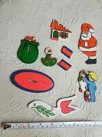 RARE Flat Wooden Christmas mixed Ornaments • Vintage • used • Sold-as-Is