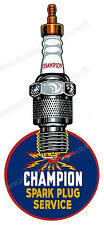 "CHAMPION SPARK PLUGS DIGITALLY CUT OUT VINYL STICKER. 2"" X 5"" OVERALL SIZE CODE2"