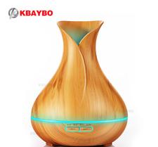KBAYBO 400ml Aroma Essential Oil Diffuser Ultrasonic Air Humidifier 7Color LED