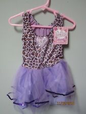 Princess Expressions Purple Leopard Dress Role-Play Costume Size Small
