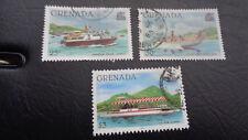 """Granada, Stamps, sello, 1982, """"ordinarios Navi barcos"""", con sello"""