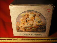 Enesco Precious Moments A Family Christmas Multi-Action/Lights Music Box MIB