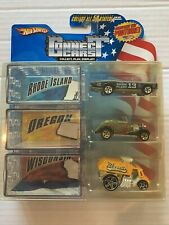 Hot Wheels Connect Cars 3-Pack Rhode Island Oregon Wisconsin. See description