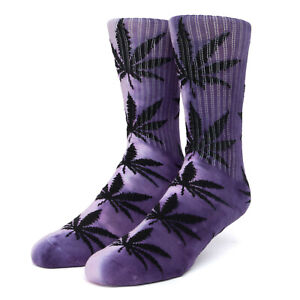 Huf Sock Socks Plantlife Tiedye Purple Hemp Marijuana Weed Dope Cannabis
