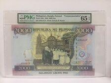 """1989 Philippines, Bangko Sentral 2000 Piso, P-189a """"COMMEMORATIVE"""" PMG 65 EPQ"""