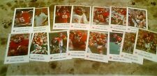 1981 frito lay kc chiefs police issue 5 dif w/warpaiint carla +10ct hardee's w/l