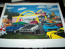 Lunch with the Boss Dave Snyder Car Art  Mustang Mach 1 Shelby GT 500 Boss 429
