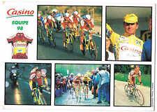 Carte postale Casino équipe 98 Jacky Durand, P.Richard, Kirsipuu, Vinokourov