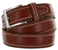 """Men's Italian Genuine Leather Dress Casual Belt 1-3/8"""" wide Made in Italy"""