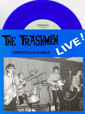 "TRASHMEN Henrietta/ Rumble 7"" 45 BLUE COLORED LIVE SURF ROCK VINYL"