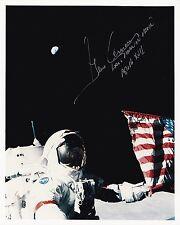 SALE!! NASA Apollo 17 Astronaut  Gene Cernan Autographed