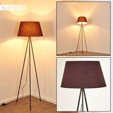 Lampadaire Métal/Tissu Lampe sur pied Lampe de lecture Lampe de séjour Marron