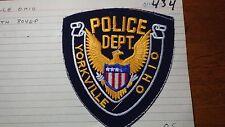 YORKVILLE OHIO POLICE DEPARTMENT  SALESMAN COPY OBSOLETE PATCH BXSP#434
