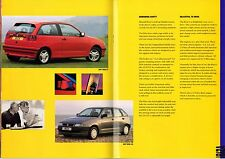 Seat Ibiza Cordoba Toledo 1994 UK Market All Model Sales Brochure