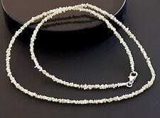 Rohdiamant-Kette * weiß-gelbliche Diamanten 2-3mm * Verschluss Sterling-Silber