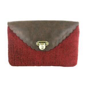 RED OR DEAD Envelope Luxury Clutch Bag