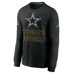 Dallas Cowboys Nike Salute to Service Mens Team Logo Dri-FIT Long Sleeve SALE