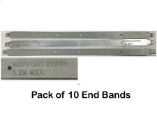 Pack of 10 Scaffold Board End Bands - Latest Design