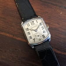 Awesome 40s HAMILTON White Gold Filled DECO watch Stunning Conditions!