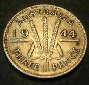 1944 S Australia 3d Threepence ** ERROR DELAMINATION ** #3467 =HIGH GRADE=