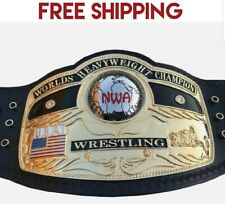 NWA DOMED GLOBE WORLD HEAVYWEIGHT CHAMPIONSHIP BELT BRASS ADULT SIZE REPLICA