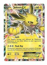 Pokemon TCG GENERATIONS JOLTEON EX 28/83 Holo Card HALF ART RARE