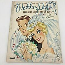 Saalfield Coloring Book Once Upon a Wedding Day Bill Woggon Paper Dolls MINT BK5