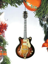 HOLLOW BODY ELECTRIC GUITAR MUSICAL INSTRUMENT CHRISTMAS ORNAMENT GIFT BOXED