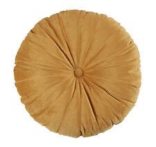 Bedding House Mandarin Gold Round Velvet Cushion