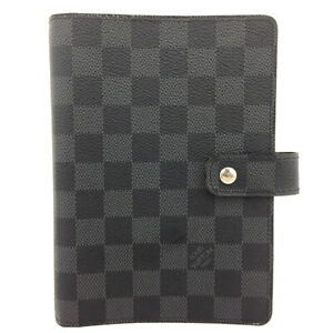 Louis Vuitton Damier Graphite Agenda MM Notebook Cover /91774
