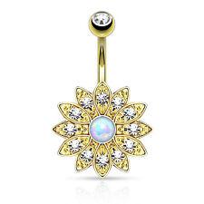 Gioielli in oro in cristallo ombelico per il corpo