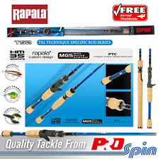 "Rapala TS2 Carbon Fishing Rod - 6' 6"" Baitcasting Rod For Crankbait Lures"