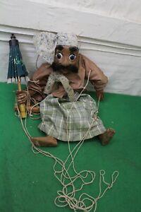 Antique Myanmar/Burmese Marionette String Puppet Moving Eyes & Mouth 45cm