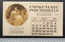 Buvard Imprimerie Industrielle /Maison L. Wolf /Calendrier / St Etienne /Blotter