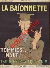 La baionnette n°50 du 15/06/1916 Number for Tommies Gus Bofa Sem Abel Hermant