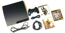 Sony PlayStation 3 PS3 SLIM 💥320GB💥 Console:  1 Sony OEM Controller + 3 Games