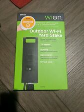 WiOn 50053 Outdoor Wi-Fi Plug-In Yard Stake 3-Outlet, Smartphone Control (U2)