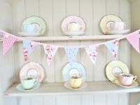 Cath Kidston Fabric BUNTING Vintage Home Office Party Decorations Gorgeous SALE