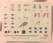 Minicraft Lockheed AC-130A gunship 1/144 scale decals and instructions only new