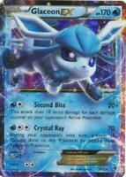 ULTRA RARE Glaceon EX 20/124 Pokemon XY Fates Collide Ice Eeveelution Holo - LP