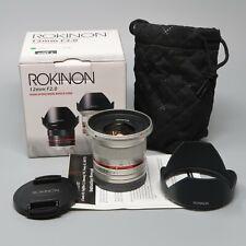 Samyang/Rokinon 12mm f/2.0 NCS CS Lens f/2 for Sony E Mount (Silver)