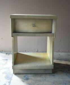 Vintage Mid Century Blonde Bedroom Nightstand, End Side Table