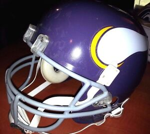 MINNESOTA VIKINGS THROWBACK LOOK NFL FOOTBALL BIKE RED DOG GRAY MASK HELMET(M)