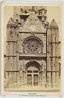 CHIESA Saint-Etienne Di Fécamp, Vintage Albumina Ca 1890
