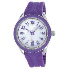 T10 MARACUJA WATCH IN SILICON , 3 SPHERES AND STRASS T10-C009V, PURPLE