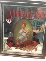 Anheuser Busch Original Budweiser 1974 Sign / Mirror