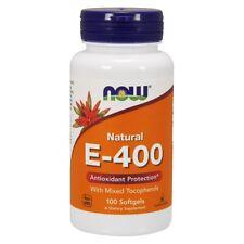 NOW Foods Vitamin E-400 IU Mixed Tocopherols 100 Softgels, 100% Natural, FRESH